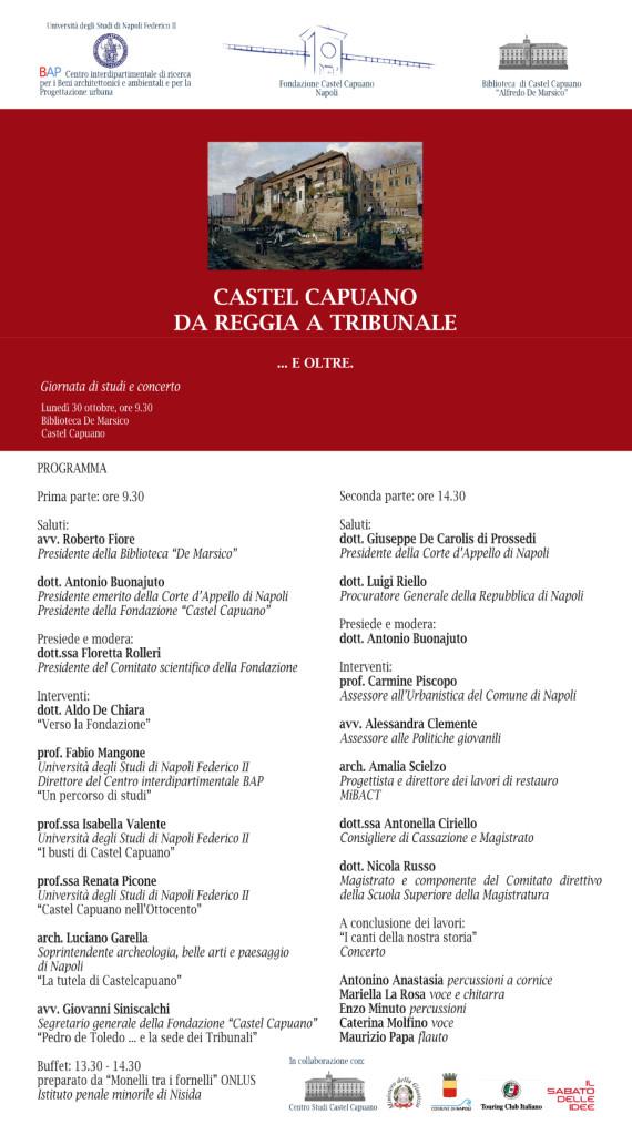 Locandina Castel Capuano Da Reggia a Tribunale e oltre